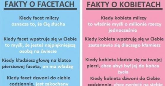 Parę faktów o Facetach i Kobietach
