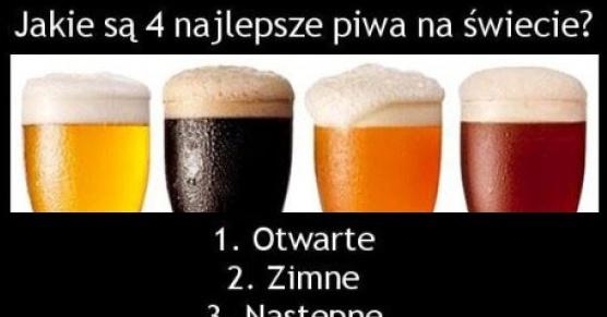 4 najlepsze piwa na świecie