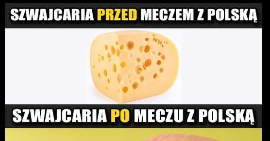 Szwajcaria przed i po meczu z Polską