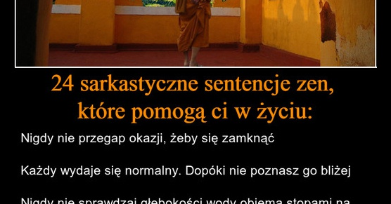 24 sarkastyczne sentencje zen, które pomogą ci w życiu...