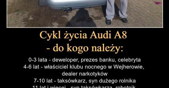Cykl życia Audi A8 - do kogo należy: