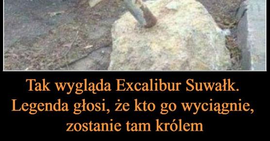 Tak wygląda Excalibur Suwałk. Legenda głosi, że kto zdoła go wyciągnąć, zostanie tam królem