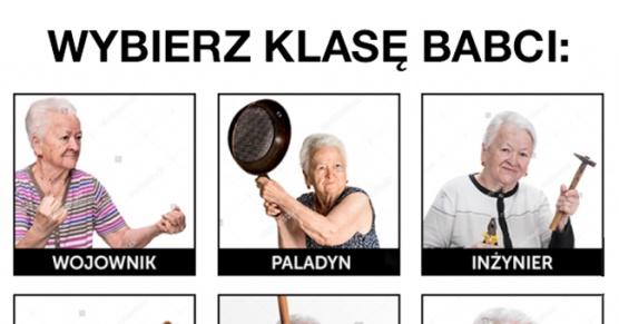 Wybierz odpowiednią klasę babci