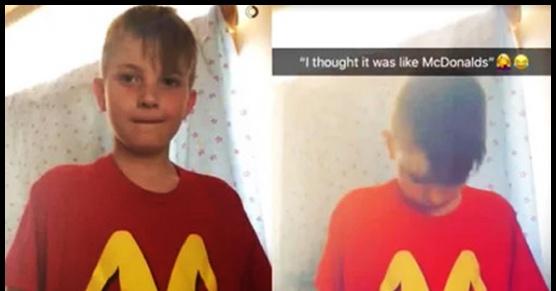 Matka przez pomyłkę wysłała syna do szkoły w takiej koszulce. Myślała, że to...