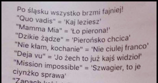 Śląska gwara
