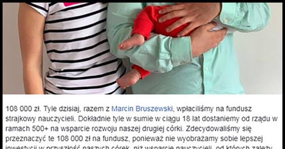 Niesamowity gest dwójki rodziców dla nauczycieli. Oddali im całe swoje 500 plus