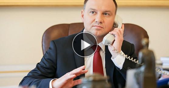 Rosyjscy dowcipnisie zrobili w konia prezydenta Andrzeja Dudy. Mamy całe nagranie.