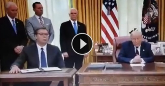 Reakcja prezydenta Serbii, który właśnie zdał sobie sprawę co właśnie podpisał. Dokument zobowiązuje do... Aleksandar Vucić dowiedział się od Trumpa, że dokument, który podpisał zobowiązuje Serbię do przeniesienia ambasady w Izraelu do Jerozolimy