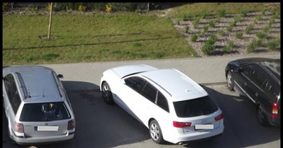 Na naszym osiedlu jest pewna pani, która parkuje swoje auto po przekątnej, tak że...