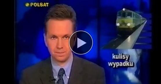 Wizualizacja wypadku kolejowego pod Dęblinem, czyli Polsat w latach 90-tych