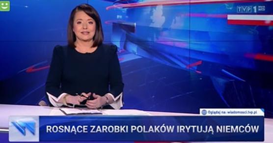 Prawdziwy pasek z wczorajszego wydania wiadomości Materiał dotyczył tego, że Polacy nie jeżdżą do Niemiec zbierać szparagi, bo...
