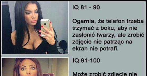 IQ i selfie w lustrze