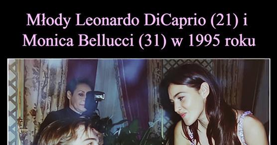 Młody Leonardo DiCaprio (21) i Monica Bellucci (31) w 1995 roku