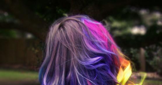 Tęczowe włosy!